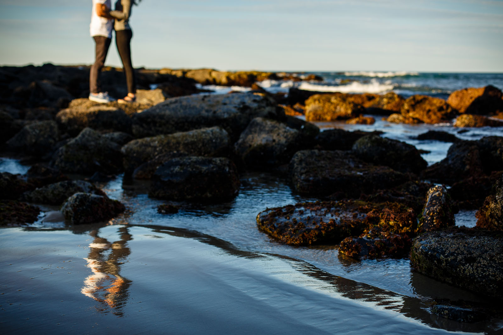 Engagement Portrait session photogrpahed in Ballina/Lennox Head by Byron Bay wedding photographer Ben Wyeth.